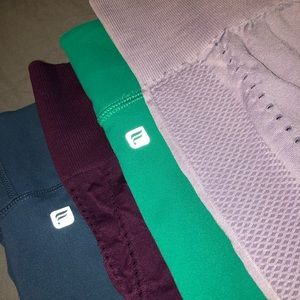 Lot of 4 L/XL Fabletics Capri length leggings